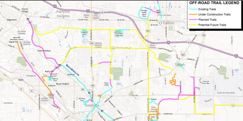 St Clair County Gis Map GIS Mapping Services for St. Clair County Transit District   St