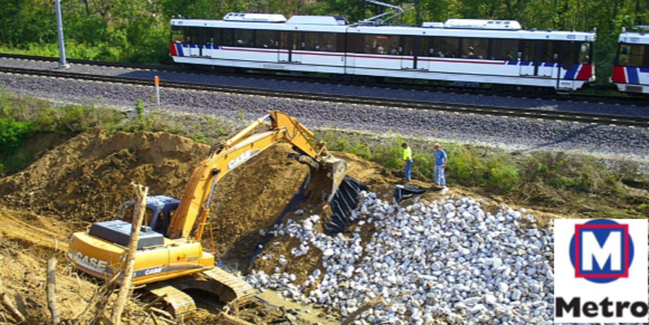 MetroLink Slope Stabilization - St  Louis Engineering Firm