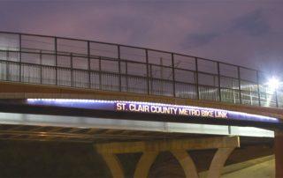 MetroBikeLink Bridge over IL 159