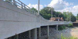 Retaining Wall & Temporary Slab Shoring for Wellington Avenue Bridge