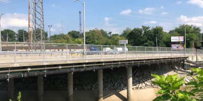 Retaining Wall & Temporary Slab Shoring for Wellington Avenue Bridge
