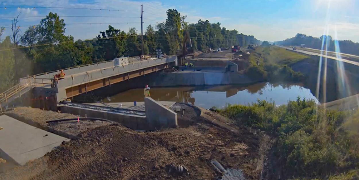 US 40 Lateral Bridge Slide Over West Fork Shoal Creek - Pocahontas Bridge Slide Project Wins AGC Award