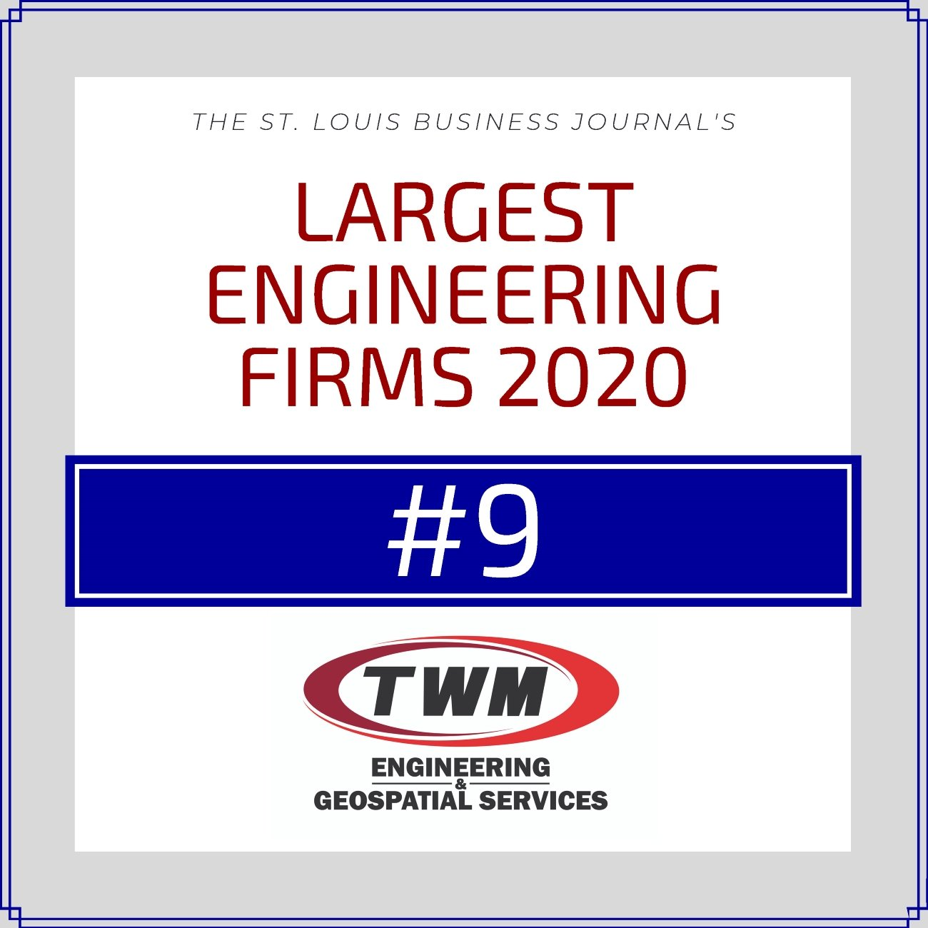 TWM Ranked Among the Top 10 Largest St. Louis Engineering Firms